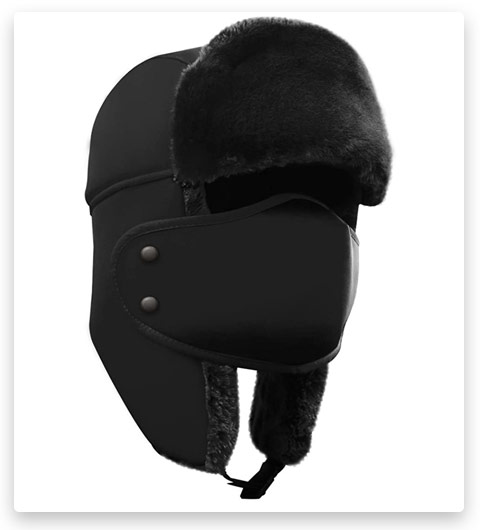 AKASO Windproof Winter Trooper / Traper Hat with Ear Flaps