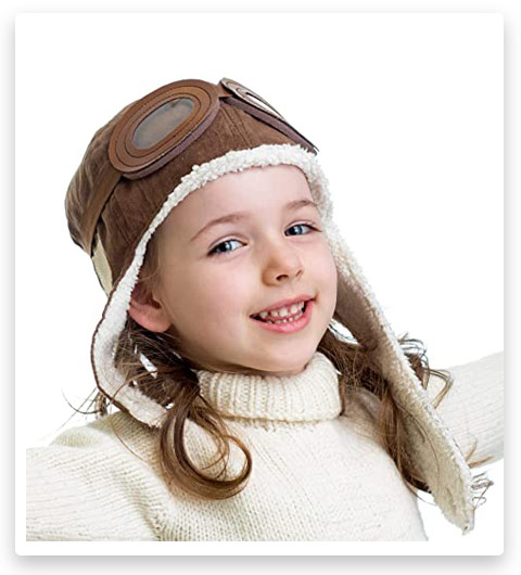 Happy Will Pilot Aviator Fleece Warm Hat for Kids