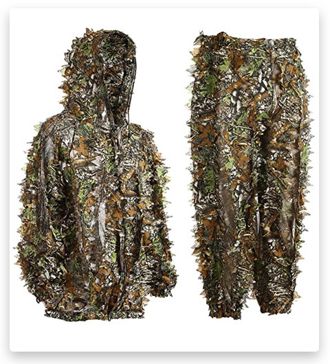 EAmber Ghillie Suit 3D Leaf Realtree