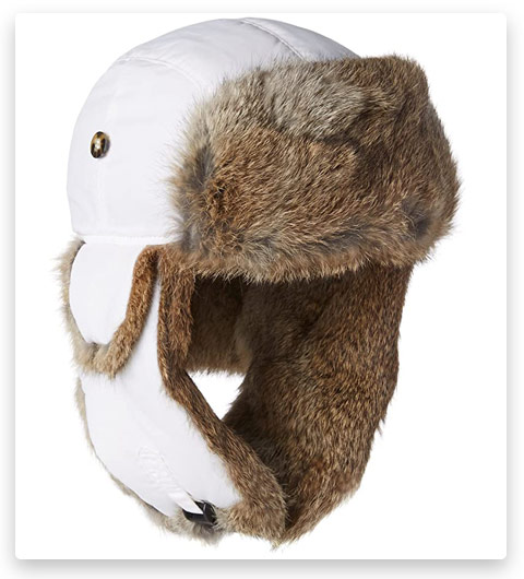 Mad Bomber Trapper Aviator Hat (Real Rabbit Fur)