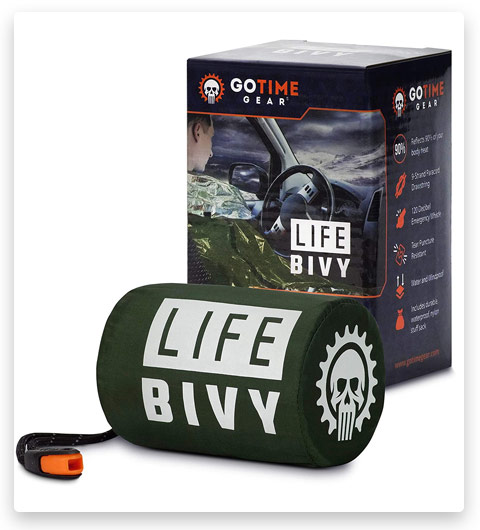 Go Time Gear Life Bivy Emergency Sleeping Bag Thermal Bivvy