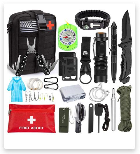 AOKIWO Emergency Survival Survival Bag (47 in 1)