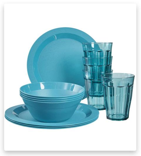 Cambridge Plastic Plate (12-piece set Teal)