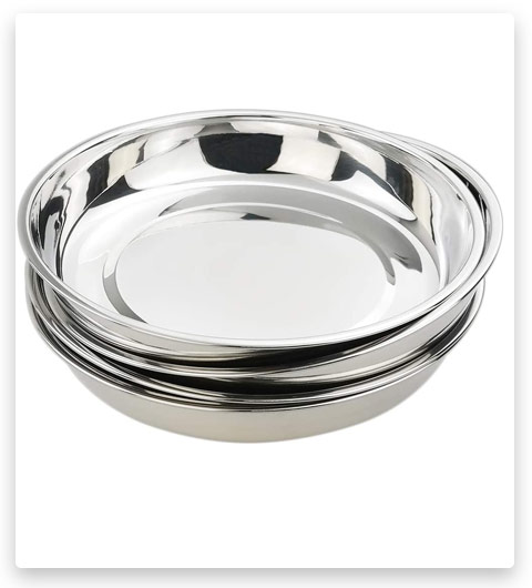 Kekow 18/10 Stainless Steel Dinner Plate (Large Round Plates)