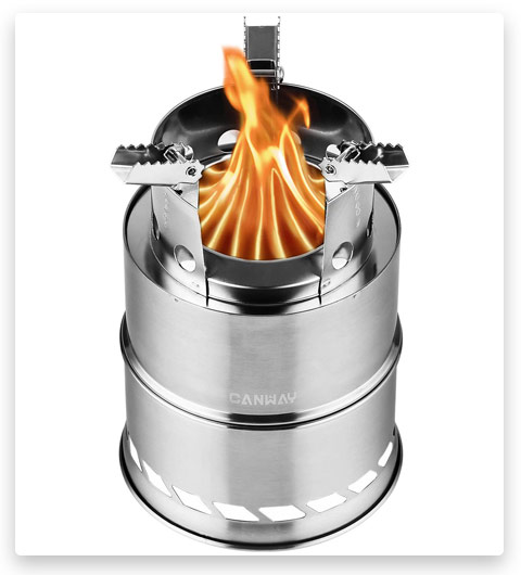 CANWAY Camping Stove (Wood Stove/Backpacking Stove)