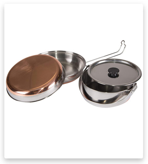 Stainless Steel Mess Kit for Camping, Backpacking & Outdoors