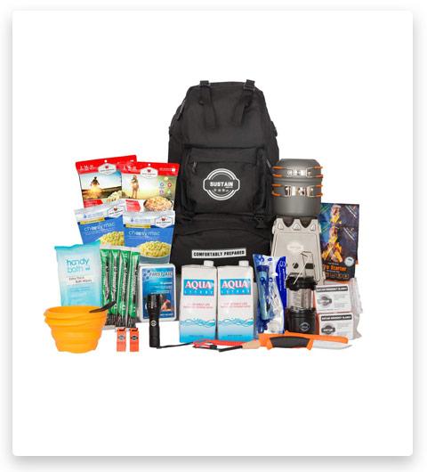 Sustain Supply Co. Premium Emergency Survival Bag/Kit (72 Hours)