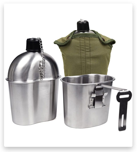 Goetland Stainless Steel WWII US Military Canteen Kit