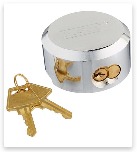 NU-SET 5373-3 Hidden Shackle Padlock with Hockey Puck Lock