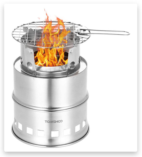 TOMSHOO Camping Stove (Backpacking Stove for Outdoor)