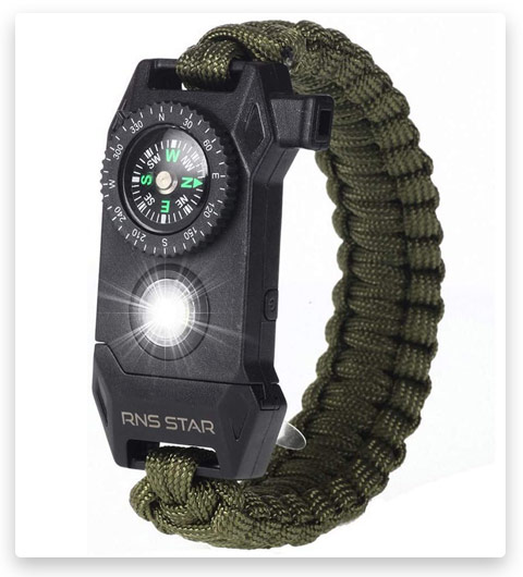 RNS STAR Paracord Survival Bracelet 6-in-1
