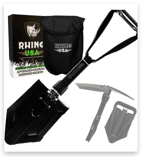 Rhino USA Folding Survival Shovel w/Pick