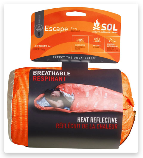 S.O.L. Survive Outdoors Longer (70% Reflective Escape Bivvy, Orange)