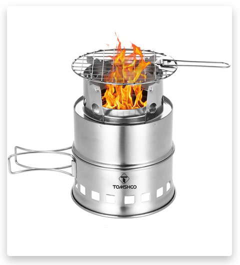 TOMSHOO Upgrade Camping Stove (Backpacking Stove with Wood)