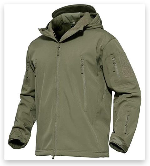 MAGCOMSEN Men's Hooded Tactical Jacket (Water Resistant)