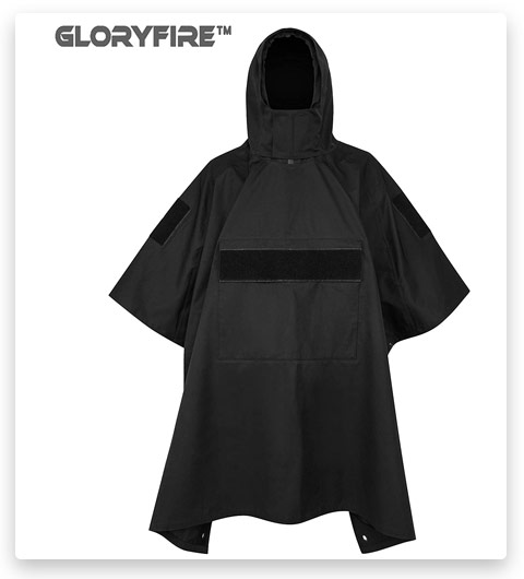 GLORYFIRE Poncho Tactical Poncho Tactical Ripstop Raincoat