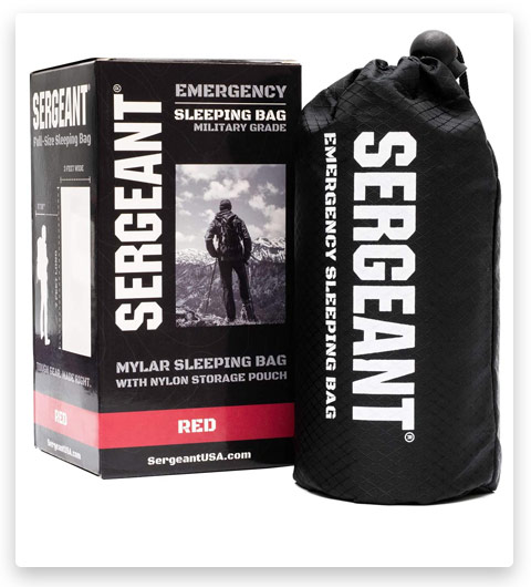 SERGEANT Emergency Sleeping Bag (Extra-Thick, Lightweight, Military Grade)