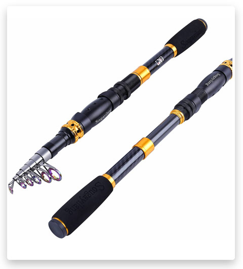 Sougayilang Telescopic Fishing Rod (24 Ton Carbon Fiber Ultralight Fishing Pole)