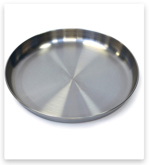 Stansport Stainless Steel Camping Plate, 9-Inch, One Size (263)