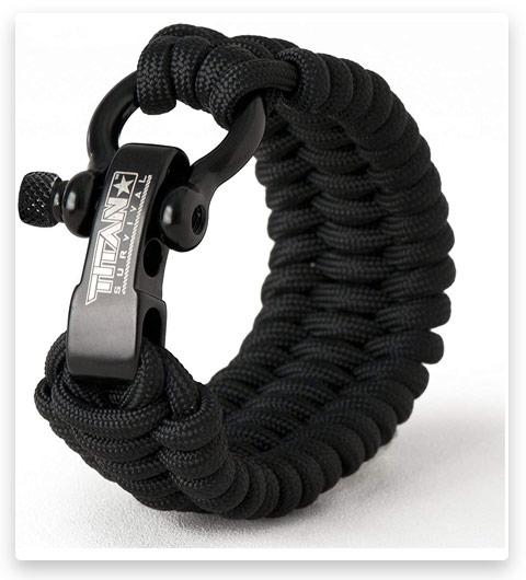 White Paracord Emergency Rope Survival Bracelet 9 Feet 7 Strand 550 LB