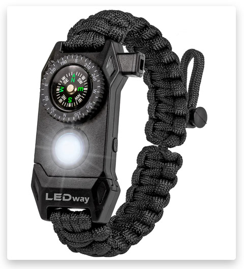 A2S Protection LEDway Paracord Bracelet Tactical Survival Gear Kit