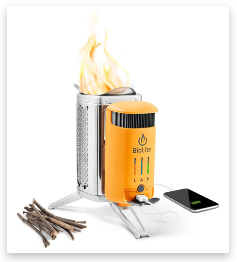 BioLite Campstove 2 Wood Burning (Electricity Generating & USB Charging Camp Stove)