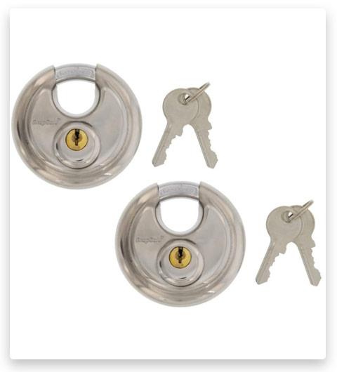 SnapSafe Key Padlock, Stainless Steel (Set of 2 Padlocks Keyed Alike)