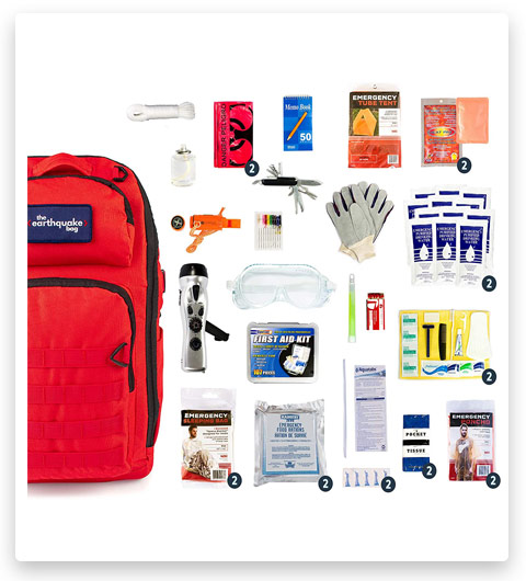 Redfora Complete Earthquake Survival Bag (2 people, 3 days)