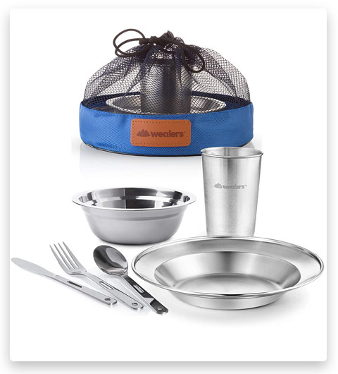 Unique Complete Messware Kit Polished Stainless Steel Dishes Set