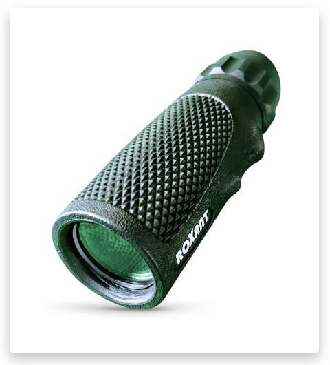 "Authentic Roxant Viper 10x25 Pocket Scope with Rubber Armor ""Snake-Grip"" + Molded Finger Grip"
