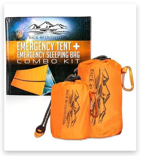 Back 40 Outfitters Emergency Tent and Emergency Bivy Sleeping Bag