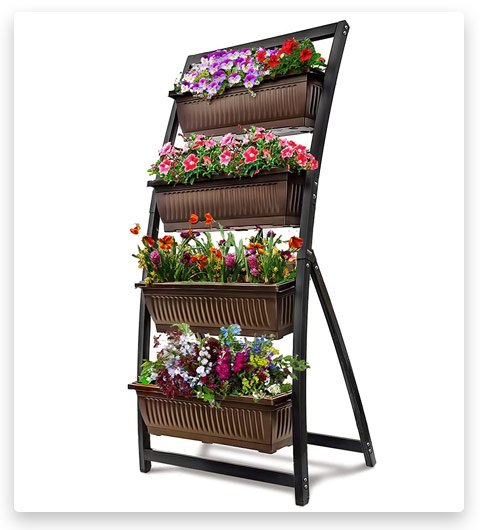 6-Ft Raised Garden Bed - Vertical Garden Freestanding Elevated Planter