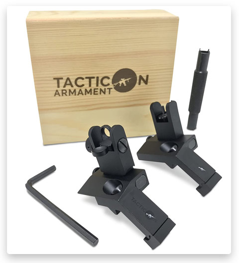 TACTICON 45 Degree Offset Flip Up Iron Sights