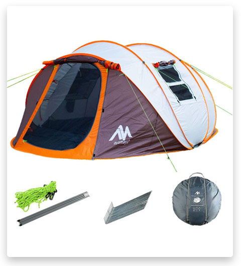 Ayamaya Pop Up Tents with Vestibule for 4 to 6 Person