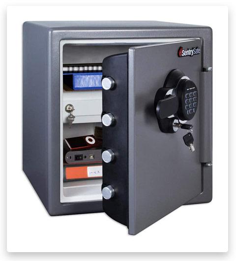 SentrySafe SFW123GDC Fireproof Waterproof Safe, 1.23 Cubic Feet, Gun Metal Grey