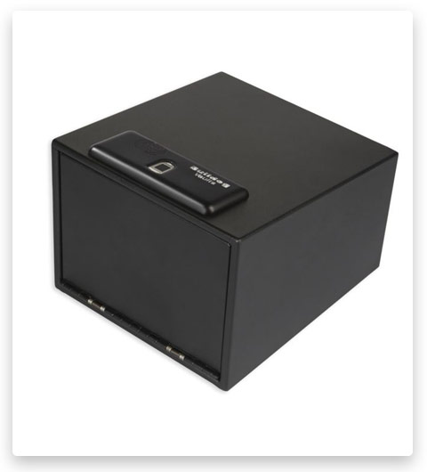 Bulldog Cases 11.5in x 10in x 8in Magnum Biometric Pistol Vault w/Shelf BD4040B