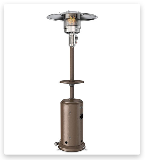 hOmeLabs Gas Patio Heater - 87 Inches Tall Premium Standing Outdoor Heater with Drink Shelf Tabletop