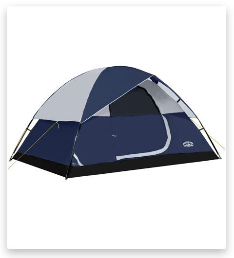 Pacific Pass 4 Person Family Dome Tent with Removable Rain Fly