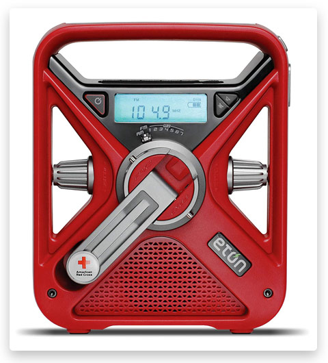 The American Red Cross FRX3 Hand Crank NOAA AM / FM Weather Alert Radio with Smartphone Charger