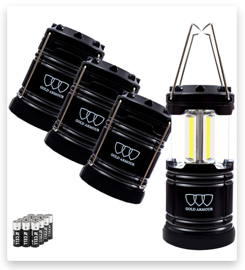 Gold Armour LED Camping Lantern, 4 Pack & 2 Pack (500 Lumens)