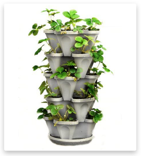 Tier Stackable Strawberry, Herb, Flower, and Vegetable Planter