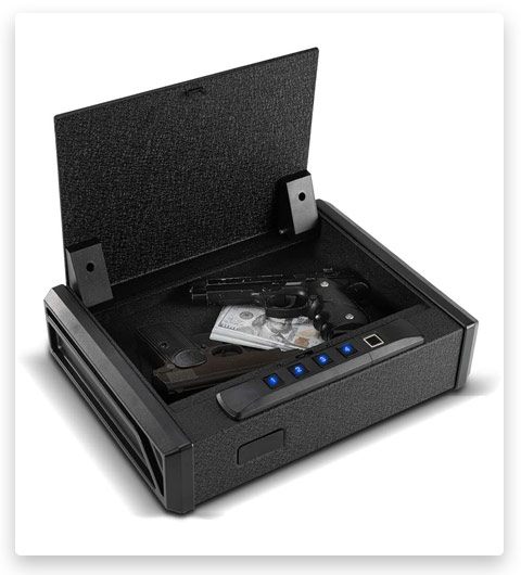 RPNB Gun Security Safe, Quick-Access Firearm Safety Device with Biometric Fingerprint or RFID Lock