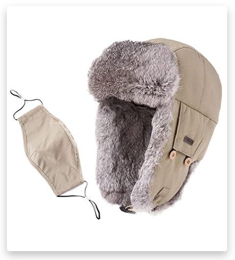 SIGGI Unisex Ratit Fur Ushanka Hat