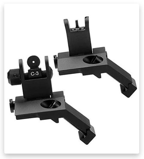 SOUFORCE Premium Flip Up Mil Spec Iron Sights