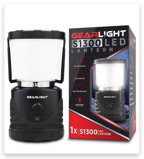 GearLight LED Camping Lantern S1300 (72 Hour Battery)