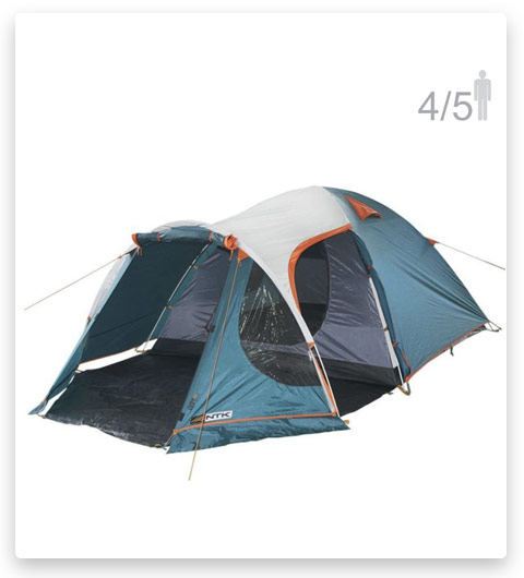 NTK INDY GT 4 to 5 Person 12.2 by 8 Foot Outdoor Dome Family Camping Tent 100% Waterproof 2500mm