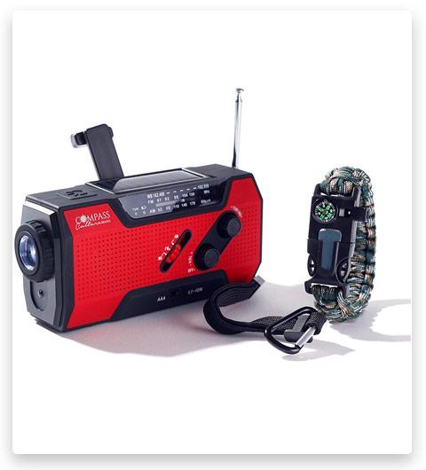 Solar Hand Crank AM FM Radio Emergency NOAA Weather Radio