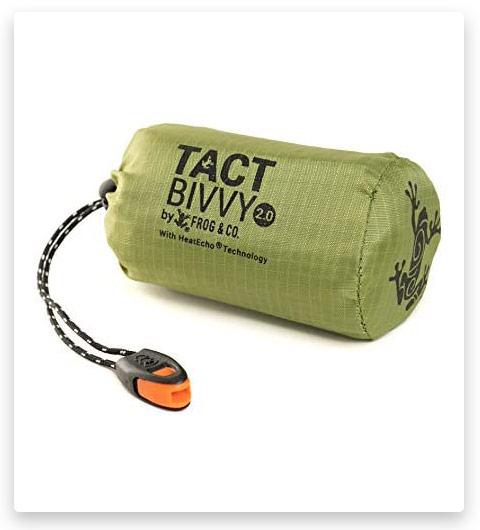 Tact Bivvy 2.0 Emergency Sleeping Bag, Compact Ultra Lightweight, Waterproof