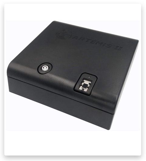 Artemis Biometric Handgun Safe Pistol Safe with Auto-Open Lid Fast Finger Print Access Child Resistant Case