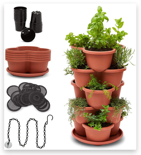 Stackable Planter Vertical Garden for Vegetables